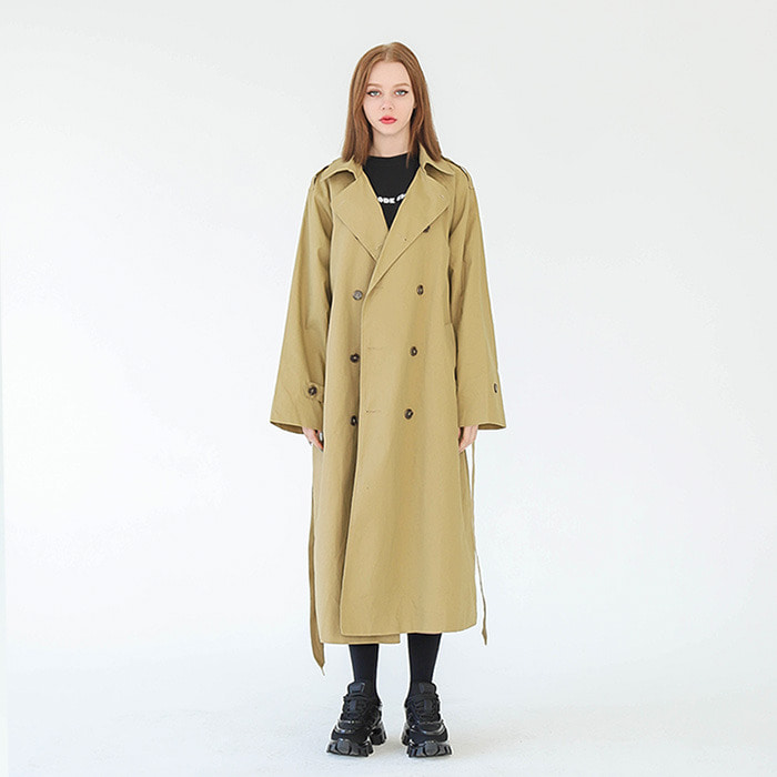LamodeChiefWOMAN MILANO OVER-FIT TRENCH COAT (BEIGE)