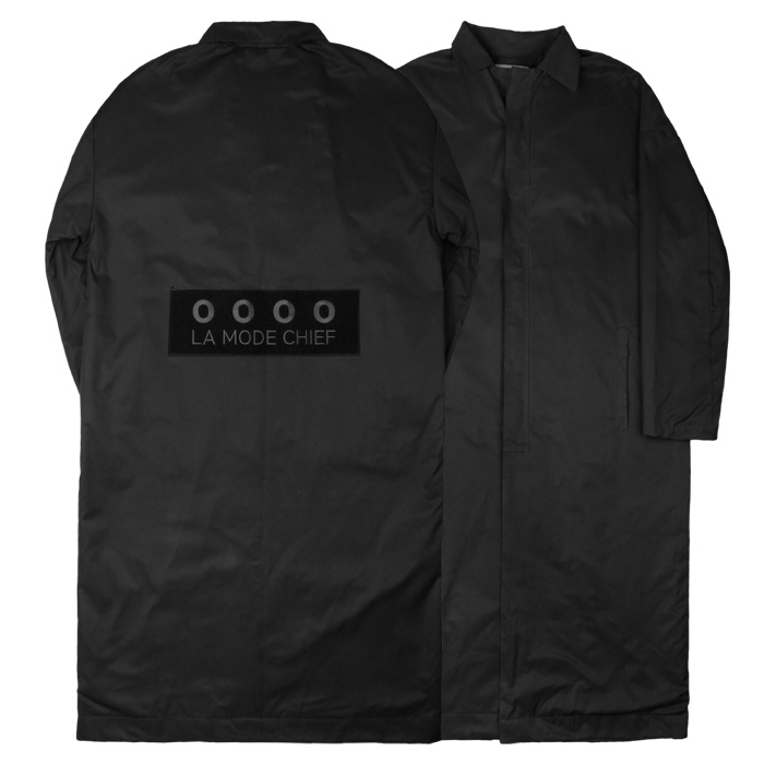 LamodeChiefLAMC BACK POINT LONG COAT (BLACK)