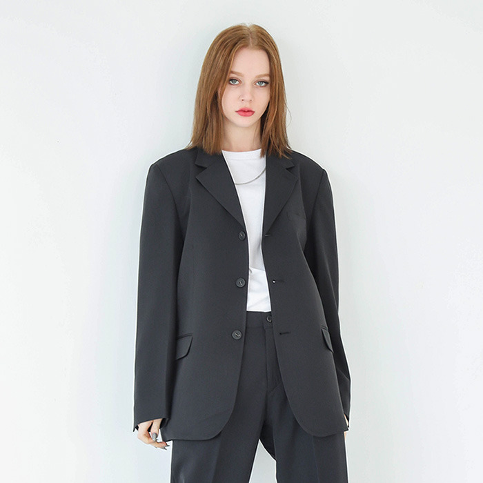 LamodeChiefWOMAN KLASSY OVER-FIT BLAZER (BLACK)