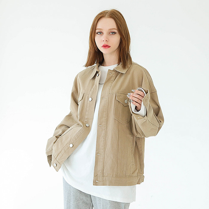 LamodeChiefBASIC TRUCKER JACKET (BEIGE)
