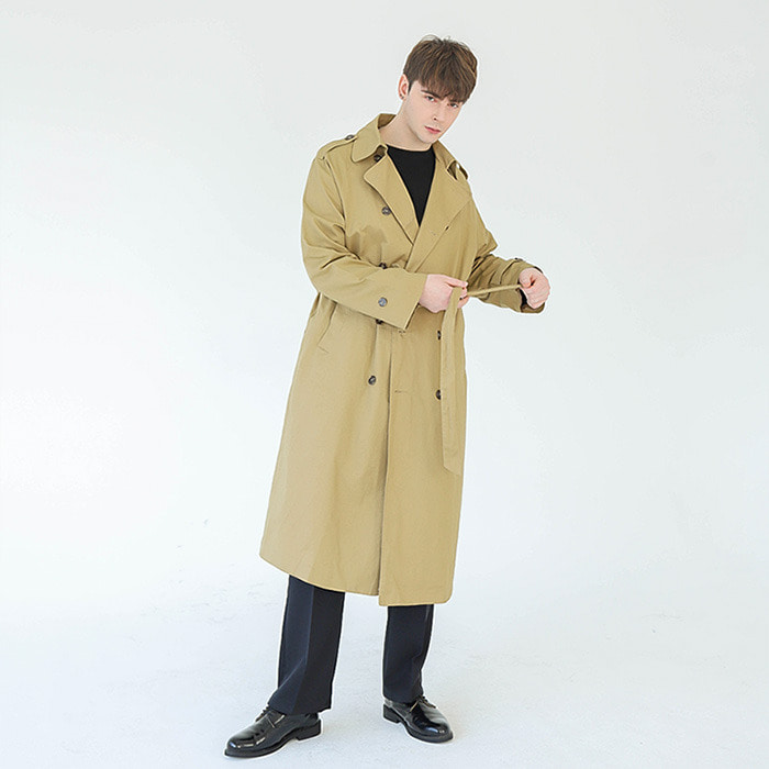 LamodeChiefMILANO OVER-FIT TRENCH COAT (BEIGE)